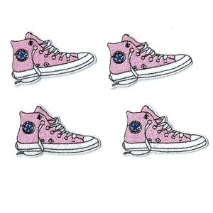 NEW 4-PACK SNEAKER SHOE ICON PATCHES BADGES 4PCS